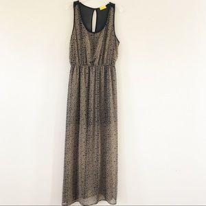 Dee Elle Cheetah Leopard Print Maxi Dress Sz M